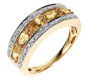 Ring Beryll Diamanten