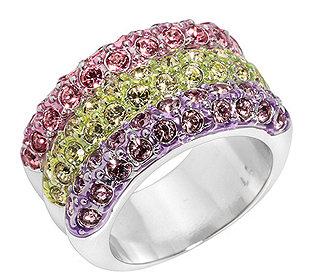 Pavé-Ring 64 Kristalle