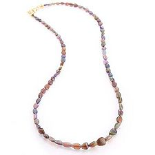Opal mind. 30ct ca. 51cm Collier Gold 375