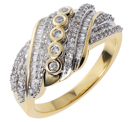 GLAMOUR DIAMONDS 123 Diamanten zus.ca.0,50ct. Ring Gold 375