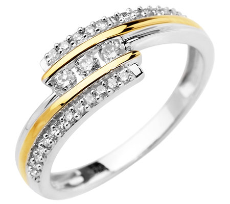 FIRST DIAMOND 29 Diamanten zus.ca.0,25ct. Weiß/P1 Ring, Gold 375