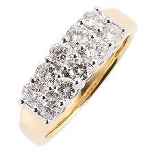 CANADIAN DIAMONDS 10 Brillanten zus.ca.1,00ct Ring Gold 750