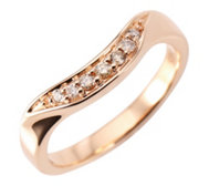 ARGYLE Ring 7 Brillanten zus.ca. 0,10ct Roségold 585