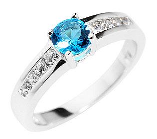 Ring Blautopas 8 Steine