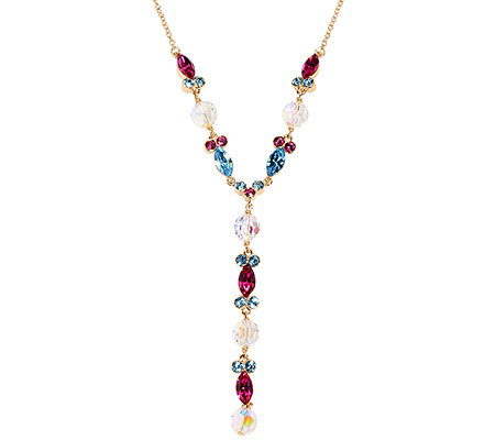 LONDON COLLECTION Y-Collier Länge ca.41+6cm Swarovski Kristalle vergoldet