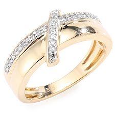 FIRST DIAMOND 26 Diamanten zus.ca.0,15ct. Ring Gold 375
