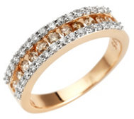 ARGYLE Ring 43 Brillanten zus.ca. 0,75ct Roségold 585