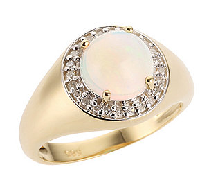 Ring Opal Diamanten