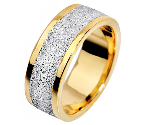 "VICENZA STYLE Band-Ring ""Glitter"" 7,3mm breit Silber 925"