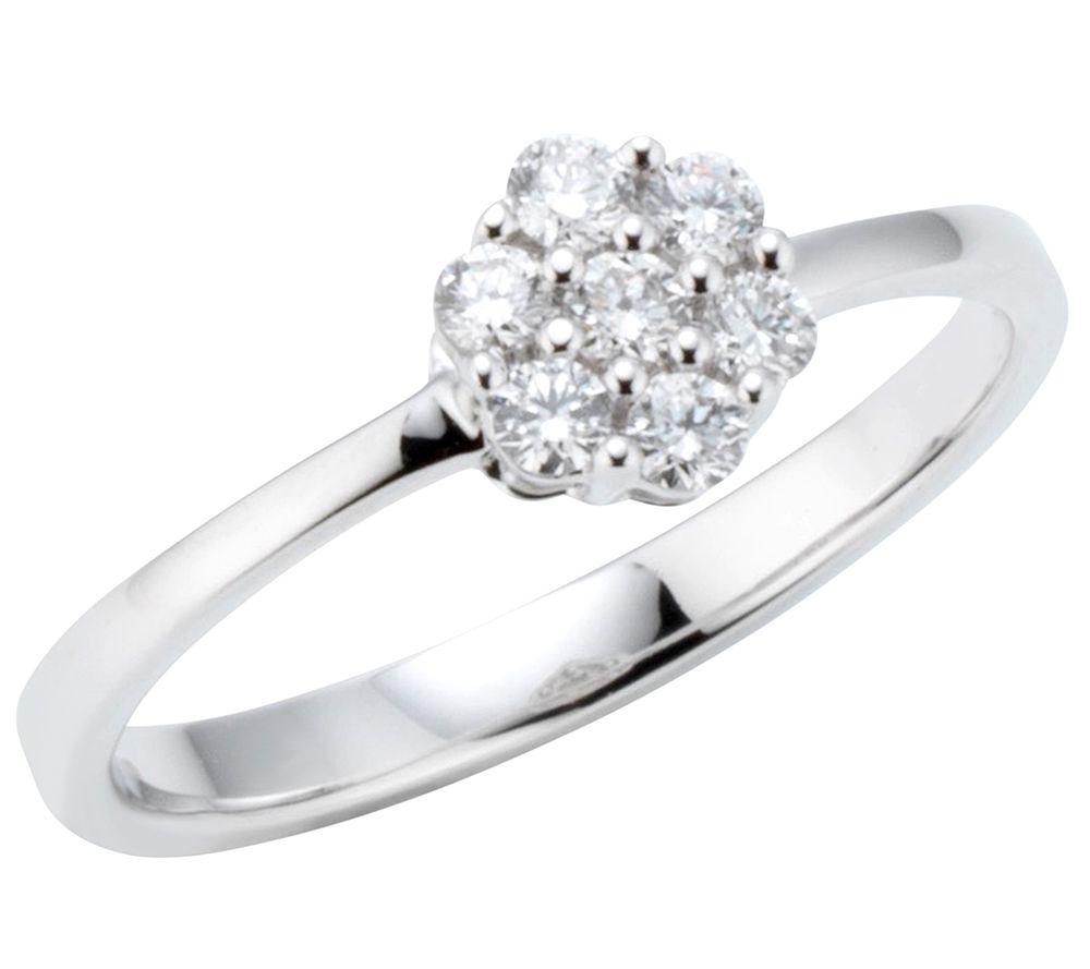 canadian diamonds 7 brillanten ring zus.ca.0,25ct weißgold 750, Badezimmer ideen
