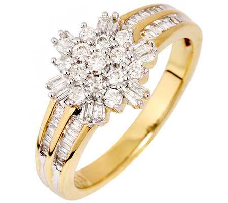 GLAMOUR DIAMONDS 61 Diamanten zus.ca.0,50ct. Weiß/P1 Ring, Gold 333