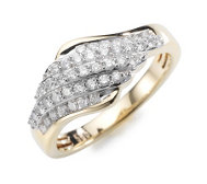 ARGYLE Ring 43 Brillanten zus. ca. 0,50ct Gold 585