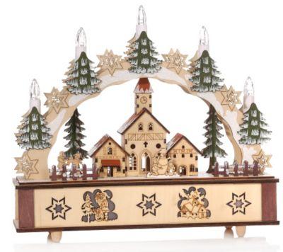 lumida xmas schwibbogen led kerzen lichterkette 31x28x8cm empfehlung des tages. Black Bedroom Furniture Sets. Home Design Ideas