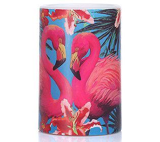 Flamingo-Kerze flammenlos