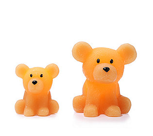 2 Teddykerzen flammenlos