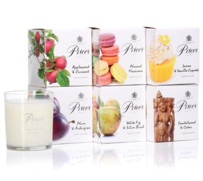 PRICE'S CANDLES Parfumkerzen im Glas Brenndauer je ca. 40h 6-tlg.