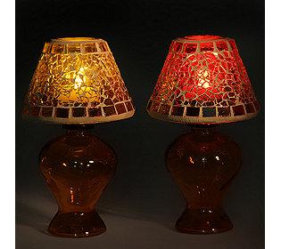2 Lampen & 4 Teelichter