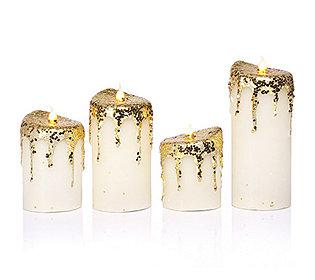 4 Kerzen flammenlos