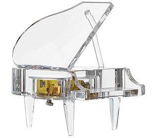 Glas-Klavier ca. 15 cm