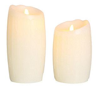 2 Kerzen flammenlos