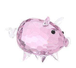 Glasdekoration Schwein