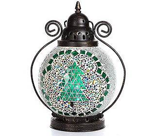 Mosaiklaterne leuchtend