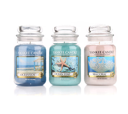 yankee candle duftkerzen set ocean brenndauer 110 150h je 623g 3tlg. Black Bedroom Furniture Sets. Home Design Ideas