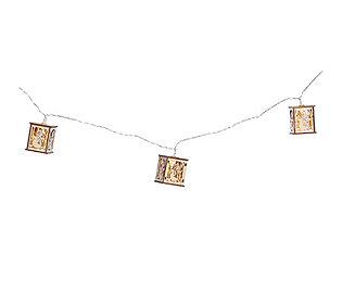 Holzlichterkette LEDs