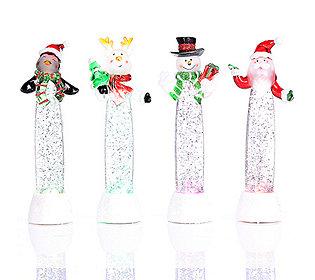 4 Glitzerwasserfiguren