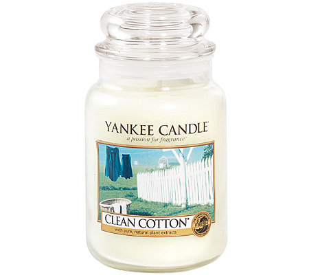 YANKEE CANDLE Duftkerze im Glas Clean Cotton 110-150Std. 623g