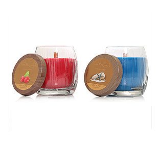2 Knisterdocht-Kerzen