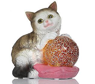 leuchtende Katzenfigur