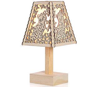 Holzlampe Tiermotiv