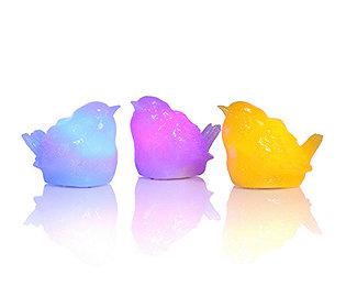 3 Vögel leuchtend