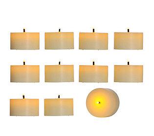 elambia flammenlose echtwachs teelichter glimmdocht timer 10 st ck. Black Bedroom Furniture Sets. Home Design Ideas