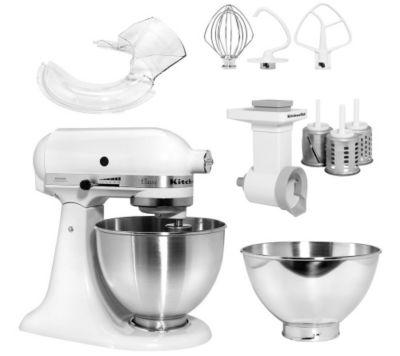KITCHENAID Küchenmaschine inkl.Spritzschutz Gemüseschneider & Edelstahlschüssel