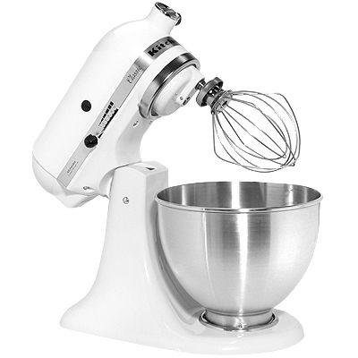 kitchenaid küchenmaschine inkl. spritzschutz & milchglasschüssel 275w