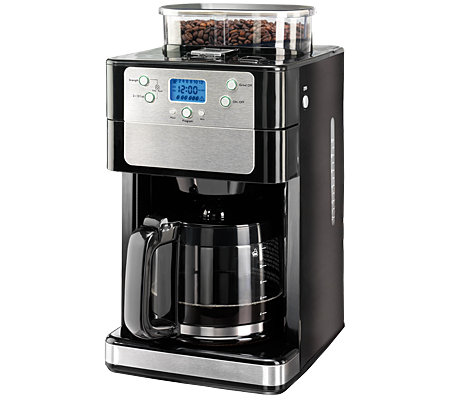 coffee maxx kaffeemaschine mit mahlwerk 12 tassen timer 4 j garantie. Black Bedroom Furniture Sets. Home Design Ideas