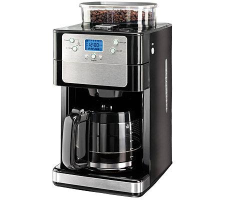 coffee maxx kaffeemaschine mit mahlwerk 12 tassen timer 4 j garantie. Black Bedroom Furniture Sets. Home Design Ideas