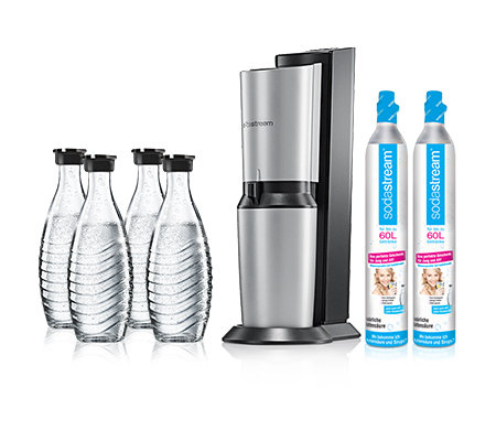 sodastream wassersprudler crystal 4 glaskaraffen 2 zylinder. Black Bedroom Furniture Sets. Home Design Ideas