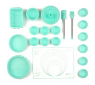BAKING BOUTIQUE Mini-Back-Set aus Silikon inkl. 12 Förmchen 20tlg.