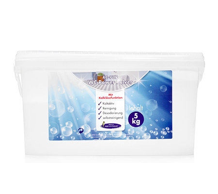 AQUA CLEAN PUR WC Power Pulver Kalklösefunktion & Frischeformel 1x 5kg