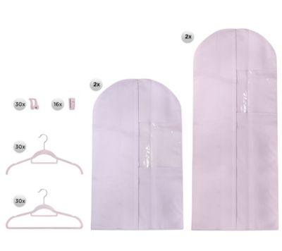 ORGANIZED OPTIONS Kleiderbügel platzsparend inkl. 4 Kleidersäcke 110-tlg.