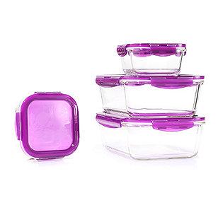 4 Glas-Vorratsdosen