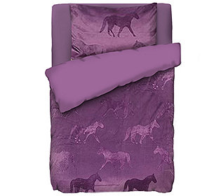 lucenta mf facettenpl sch kinderbettw sche pferde. Black Bedroom Furniture Sets. Home Design Ideas