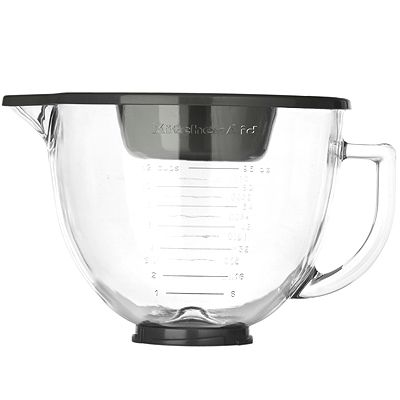 KITCHENAID® Design- Glasschüssel 4,83l inkl. Silikondeckel