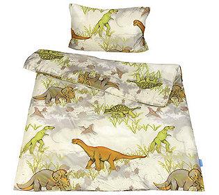 jerymood mf jersey interlock kinderbettw sche dinosaurier einzelbett 2 tlg. Black Bedroom Furniture Sets. Home Design Ideas