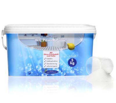 AQUA CLEAN PUR WC Power Pulver Kalklösefunktion mit Zitronenduft 5kg