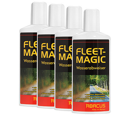 ABACUS Fleet-Magic Regenabweiser mit Abperleffekt 4x 250ml