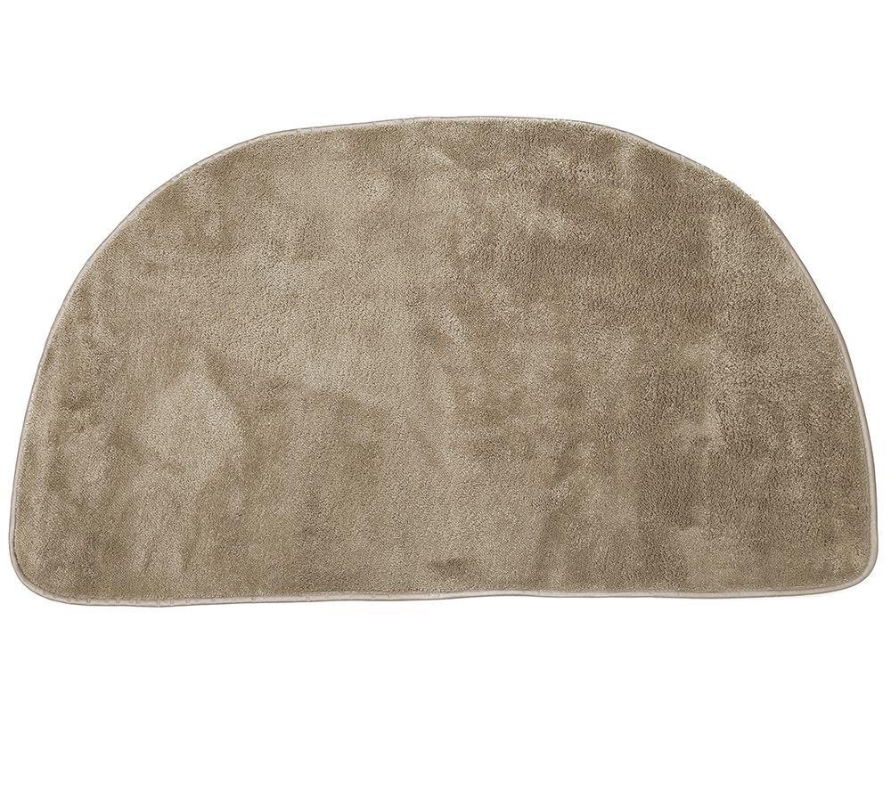 badizio softdry mf kuschelplüsch badematte uni halbrund, 50x90cm, Badezimmer ideen